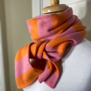J. Crew pink orange striped soft cashmere?